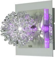 Wandleuchte Wandlampe Wohnzimmerleuchte Deko LED Flurlampe, Chrom Kunststoff Stahl gebürstet, 16W 300ml, LxB 17x17 cm