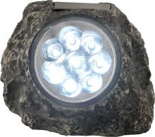 Hochwertige Solarleuchte Kunststoff grau weiß Globo SOLAR 33920