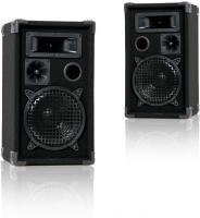 PA Boxen Party Lautsprecher Lautsprecherboxen, 600 Watt 3-Wege stabil kompakt, 47x27x25cm