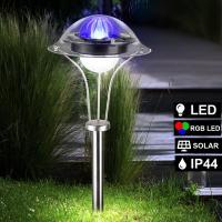Gartenleuchte Fabwechsler Solarlampe Außenleuchte LED IP44 Gartenlampe Farbwechsler Globo 33041