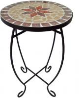 Blumen Hocker Wohn Zimmer Beistell Tisch Mosaik Design mediterran Pflanzen Ständer HARMS 504662