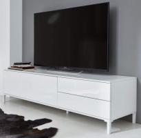 TV-Lowboard  Sheldon  in weiß Hochglanz Lack TV Board 160 x 40 cm