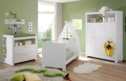 Babyzimmer komplett Set  Olivia  5-teilig weiß