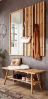 Garderobenkombination  Alwar  in Eiche massiv geölt Garderobe Set 4-teilig 100 x 185 cm