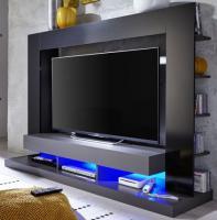 Mediawand  Cyneplex TTX  schwarz grau 170 x 124 cm optional mit LED Beleuchtung
