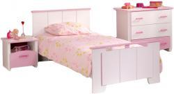 Kinderzimmer Biotiful Parisot 3-teilig Weiß - Rosa