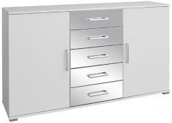 Kommode Noel mit 2 Türen + 5 Schubladen B 149 cm H 86 cm weiß