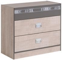 Kommode Fabric Parisot mit 3 Schubladen B 87 cm H 77 cm grau