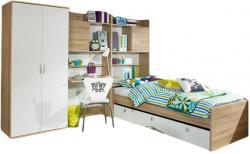 Kinderzimmer Naomi 1 4-teilig Weiß- Eiche Sonoma B 275 cm