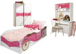 Kinderzimmer Zoe2 4-teilig Weiß - Pink