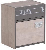 Nachtkommode Fabric Parisot mit 1 Schublade und 1 Fach B 40 cm H 46 cm T 28 cm grau