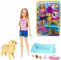 Hunde-Mama mit Welpen | Barbie Puppe Spielset & Accessoires | Mattel FDD43
