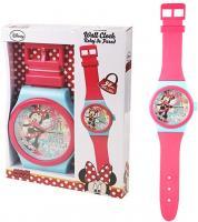 Rosa Minnie Wanduhr   Kinderzimmer Uhr   92 cm   Disney Minnie Maus