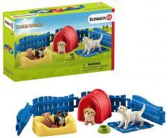 Welpenstube | Schleich | Sammelfiguren | Hunde-Welpen Set | Farm World