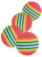 Trixie 4 Rainbow-Bälle - 3,5 cm