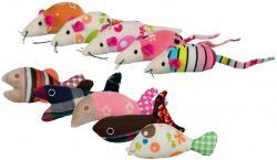 Trixie Katzenspielzeug Maus oder Fisch