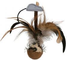 Trixie Steh-auf-Federball mit Maus - 15 cm