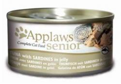 Applaws Senior Thunfisch & Sardine in Gelee 24 x 70g Dose Katzenfutter
