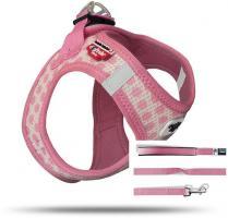 Curli Vest Geschirr Puppy Set Pink-circles XS für Hunde