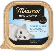 Miamor Schale Milde Mahlzeit Geflügel & Lachs 16 x 100g Katzennassfutter
