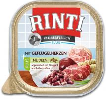 Rinti Kennerfleisch Geflügelherzen + Nudeln 9 x 300g Hundefutter