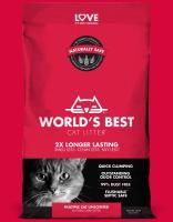 Worlds Best Cat litter ROT multiple cat 3,18 kg Katzenstreu