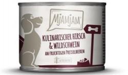 MjAMjAM Hirsch und Wildschwein an Preiselbeeren 6 x 200g Dose Hundefutter