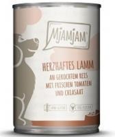 MjAMjAM Lamm an gekochtem Reis mit frischen Tomaten 6 x 400g Dose Hundefutter