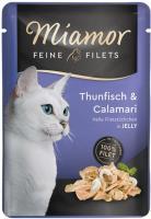 Miamor Feine Filets in Jelly Thunfisch & Calamari Frischebeutel 24 x 100g