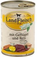 Landfleisch Dog Pur Geflügel & Reis extra mager 12 x 400g