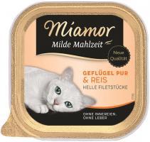 Miamor Schale Milde Mahlzeit Geflügel & Reis 16 x 100g Katzennassfutter