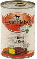 Landfleisch Dog Pur Rind & Reis extra mager 12 x 400g