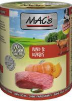 Macs Dog Rind & Kürbis 6 x 400g Dose Hundefutter