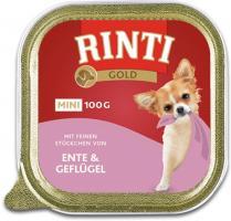Rinti Gold mini Ente & Geflügel 16 x 100g Hundefutter