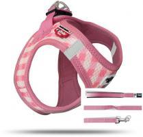Curli Vest Geschirr Puppy Set Pink-caro 2XS für Hunde