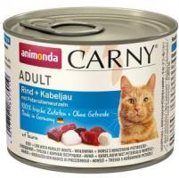 Animonda Cat Dose Carny Adult Rind & Kabeljau & Petersilienwurzeln 6x200g