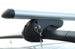 Alu Relingträger VDP Rio 120 kompatibel mit VW Tiguan ab 07 Dachträger bis abschließbar