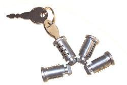 4 Schließzylinder + 2 Schlüssel für DAchträger ORIGINAL