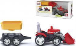 Multigo Traktor-Set 2in1 mit Anhänger Frontlader Schaufel Pritsche Fahrzeug +2J