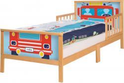 roba Toddler Bett Cars Kinderbett Juniorbett 70x140 cm Holz