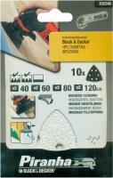 10x Black&Decker Piranha Schleifpapier X32348 40/60/80/120 G/K Schleif Blatt