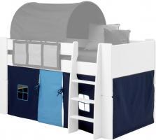 Molly Kids Vorhang in blau Vorhänge für Hochbett Spielbett Kinderbett Stockbett