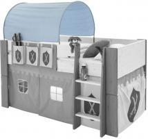 MOLLY KIDS Spieltunnel Höhle für Hochbett Spielbett Kinderbett Stockbett blau