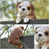 Dekofigur Gartenfigur Bulldogge 19 x 12 x 11 cm