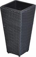 Pflanzkübel Sanssouci Poly Rattan 60 cm schwarz