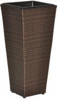 Pflanzkübel Sansscouci Poly Rattan braun 60 cm