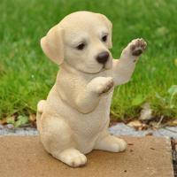 Dekofigur Gartenfigur Labrador Welpe