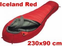 Alexika Schlafsack ICELAND RED 230x90cm 2,6kg leicht bis -23°C 77110