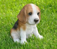 Dekofigur Gartenfigur Beagle Welpe