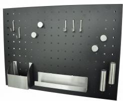 Magnettafel Memo-Board Stahl matt schwarz pulverbeschichtet 50 x 35 cm